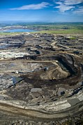 Bird Tracks Photos - Opencast Mine, Athabasca Oil Sands by David Nunuk