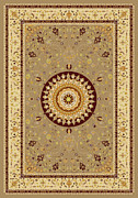 Flooring Digital Art Framed Prints - Oriental Graphic Art Framed Print by Baker  Alhashki