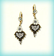 Bridal Jewelry Jewelry - Orly Zeelon Jewelry - The Heart Shaped Pendant Earrings by Orly Zeelon