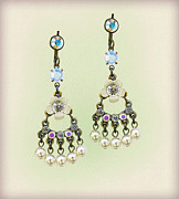 Bridal Jewelry Jewelry - Orly Zeelon The Floral Small Chandelier Earring by Orly Zeelon