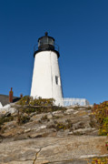 Maine Lighthouses Posters - Pemaquid Point Light Poster by John Greim