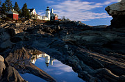 Rocks. Tidal Pool Posters - Pemaquid Point Lighthouse Poster by Brian Jannsen