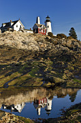 Pemaquid Posters - Pemaquid Point Lighthouse Poster by John Greim