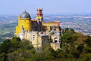 Red Rock Photo Metal Prints - Pena Palace Metal Print by Carlos Caetano