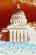 Governmental Prints - Photographic Cross-processing Creates Print by Stacy Gold