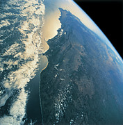Satellite Posters - Planet Earth Viewed From Space Poster by Stockbyte