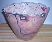 Ceramic Mixed Media - Planter by Susan Bornstein