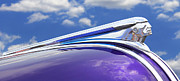 Vintage Hood Ornament Digital Art Metal Prints - Pontiac Hood Ornament Metal Print by Mike McGlothlen