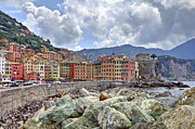 Genoa Metal Prints - Port of Camogli Metal Print by Joana Kruse