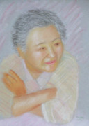 Fun Pastels Posters - Portrait Of Lady Poster by Masami Iida