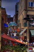 Crowds  Prints - Post Alley - Seattle Print by David Patterson