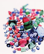 Valuable Photo Prints - Precious Gemstones Print by Lawrence Lawry