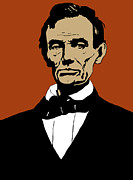 Presidents Mixed Media Metal Prints - President Lincoln Metal Print by War Is Hell Store