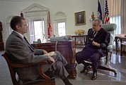 Lyndon Art - President Lyndon Johnson Meeting by Everett
