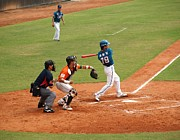 Baseball Bat Photo Prints - Professional Baseball Game in Taiwan Print by Yali Shi