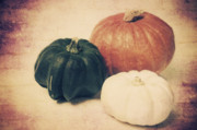 3 Pumpkins Print by Angela Doelling AD DESIGN Photo and PhotoArt