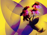 Purple Coneflowers Print by Patricia Motley
