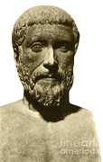 Greek Sculpture Prints - Pythagoras, Greek Mathematician Print by Photo Researchers