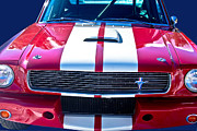 Photographers Fine Art Posters - Red 1966 Ford Mustang Shelby Poster by James Bo Insogna