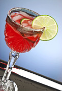 Red Cocktail Drink Print by Blink Images