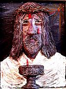 Jesus Sculpture Prints - 3 Red Drops Print by Richard  Hubal