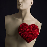 Fixed Art - Red heart by Bernard Jaubert