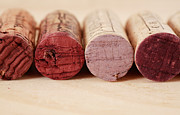 Merlot Photo Metal Prints - Red Wine Corks Metal Print by Frank Tschakert