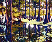 Cedar Trees Prints - Reflections Print by Kevin Lawrence Leveque