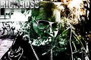 Singer Mixed Media Prints - Rick Ross Print by The DigArtisT