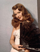 1940s Portraits Prints - Rita Hayworth, Ca. 1940s Print by Everett