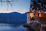 Travel Prints - romantic evening at the Lake Maggiore Print by Joana Kruse