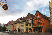 Historical Towns Prints - Rothenburg Medieval old town  Print by Amit Strauss