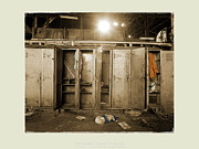 Railroad Workers Art - Roundhouse Lockers by Jan Faul