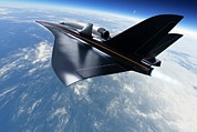 Spaceplane Metal Prints - Saenger Horus Spaceplane, Artwork Metal Print by Detlev Van Ravenswaay