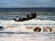 Sailing Print by Usha Rai