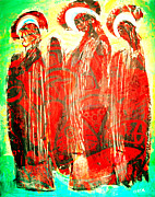 Orthodox Paintings - 3 Saints by Andrew Osta