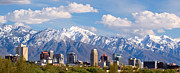 Snow Capped Framed Prints - Salt Lake City Utah USA Framed Print by Utah Images