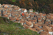 Streetview Framed Prints - San Donato Di Ninea View From Above Framed Print by Gualtiero Boffi