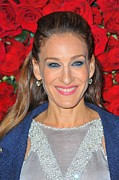 Diamond Earrings Posters - Sarah Jessica Parker At Arrivals Poster by Everett