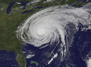 Natural Disasters Art - Satellite View Of Hurricane Irene by Stocktrek Images