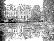 Europe Drawings - Schloss Paffendorf Germany by Joseph Hendrix