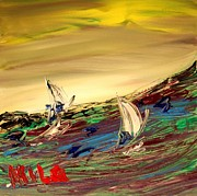 Europe Posters Paintings - Seascape by Mark Kazav