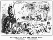 Political Allegory Metal Prints - Secession Cartoon, 1861 Metal Print by Granger