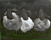 Postal Originals - 3 Sheepish sheep by Peter  McPartlin