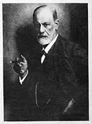 Analytical Psychology Framed Prints - Sigmund Freud, Austrian Psychologist Framed Print by Humanities & Social Sciences Librarynew York Public Library