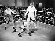 Referee Prints - Silent Film Still: Boxing Print by Granger