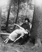 Silent Forest Framed Prints - Silent Film Still: Fainting Framed Print by Granger
