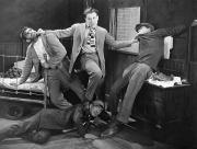 Fistfight Framed Prints - Silent Film Still: Fights Framed Print by Granger