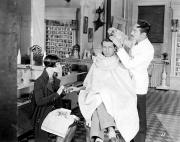 Silent Still: Barber Shop Print by Granger