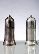 Shakers Framed Prints - Silver Salt And Pepper Shakers, One Framed Print by Photo Researchers, Inc.